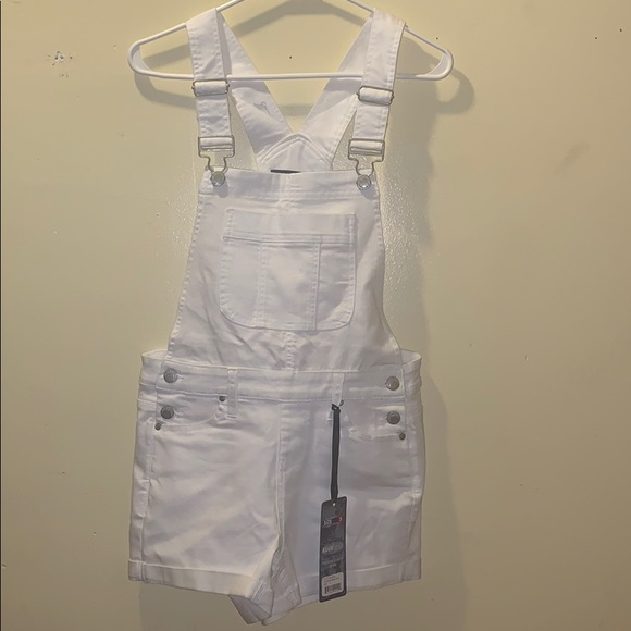 Blue Spice Denim - Blue Spice, white denim shortfall, size Juniors 5